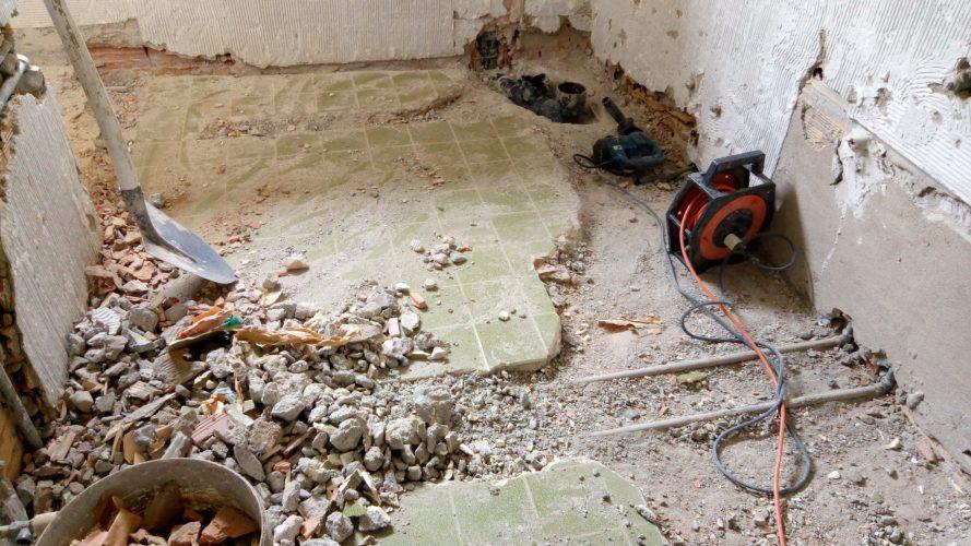 Demolizione bagno